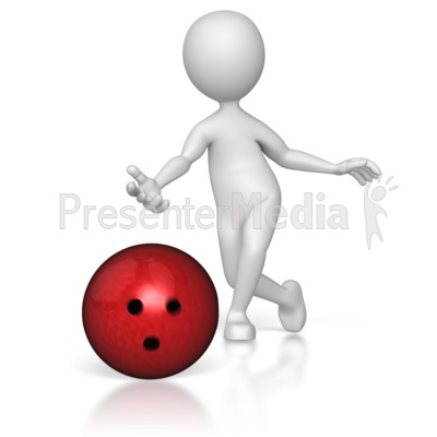 Bowler Just Threw Presentation clipart