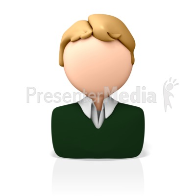 Casual Business Icon Presentation clipart