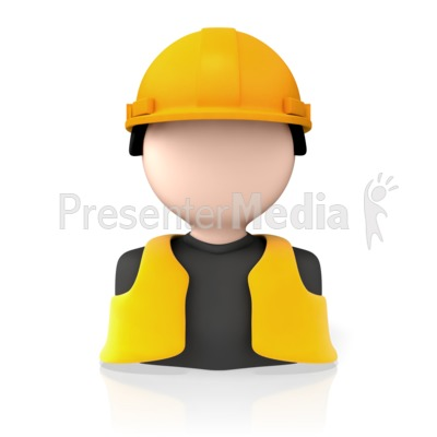 Construction Worker Icon Presentation clipart