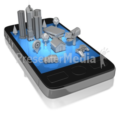 Smart Phone Social Life Mono Presentation clipart