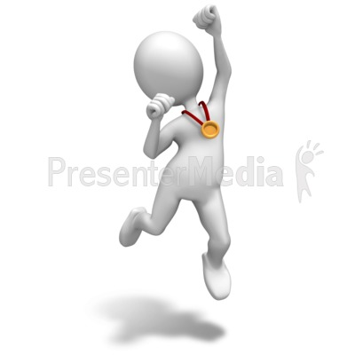 Winner Gold Medal Presentation clipart