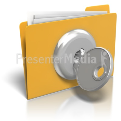 Folder Lock And Key Presentation clipart
