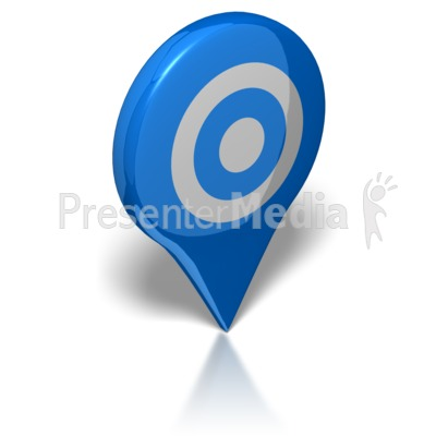 Map Target Presentation clipart