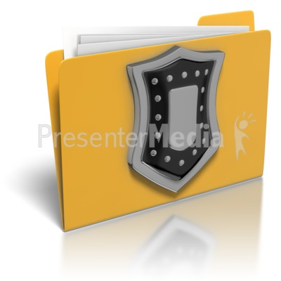 Folder Shield Protection Presentation clipart
