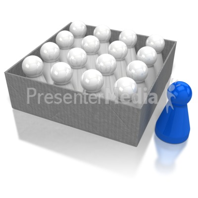Pawn Outside Box Presentation clipart