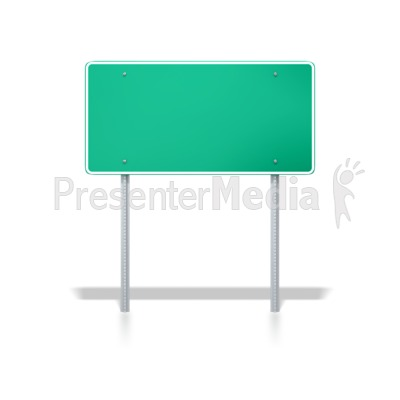 Interstate Road Sign Presentation clipart