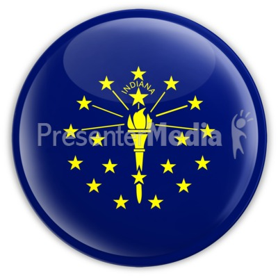 Badge of Indiana Presentation clipart