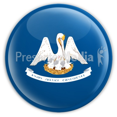 Badge of Louisiana Presentation clipart