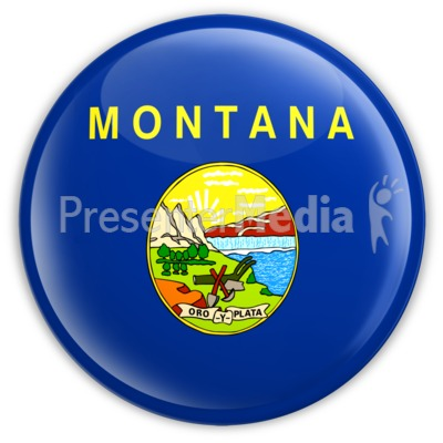 Badge of Montana Presentation clipart
