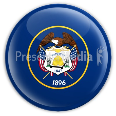 Badge of Utah Presentation clipart