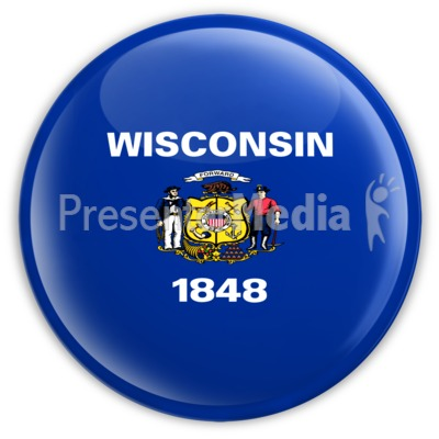 Badge of Wisconsin Presentation clipart