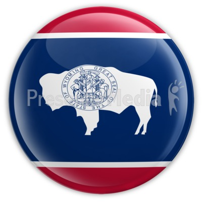 Badge of Wyoming Presentation clipart