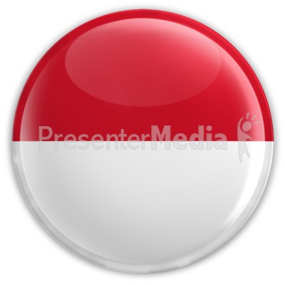 Badge of the Flag of Indonesia Presentation clipart