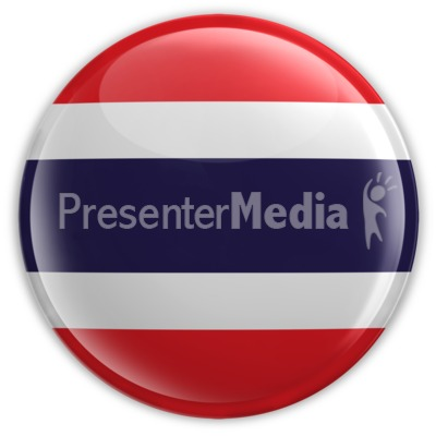 Badge of the Flag of Thailand Presentation clipart