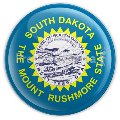 Badge of South Dakota Presentation clipart