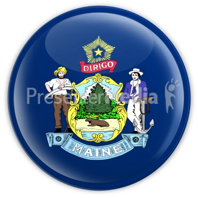 Badge of Maine Presentation clipart