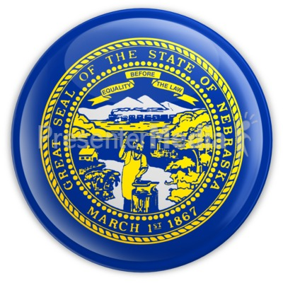 Badge of Nebraska Presentation clipart