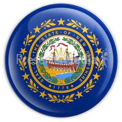 Badge of New Hampshire Presentation clipart