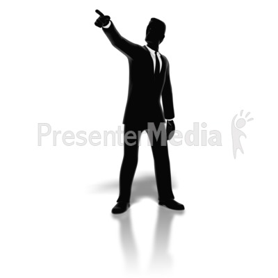 Businessman Pointing Silhouette Presentation clipart
