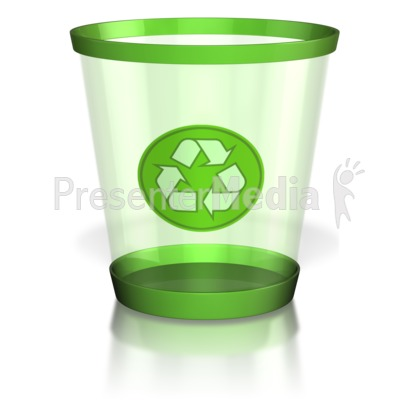 Recycle Trash Can Presentation clipart