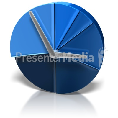 Pie Chart Clock Presentation clipart