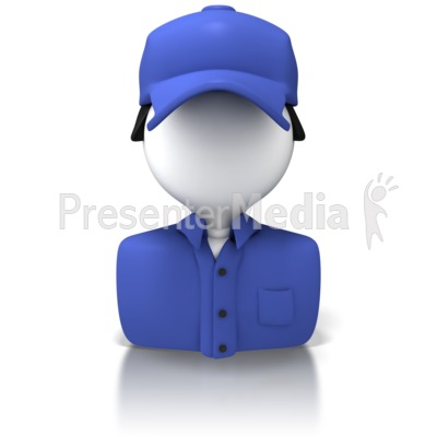 Delivery Person Icon Presentation clipart