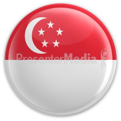 Badge of Singapore Flag Presentation clipart