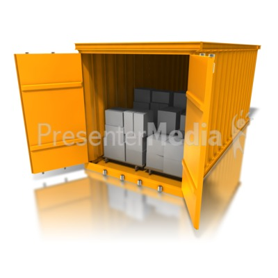 Cargo Container Boxes Presentation clipart