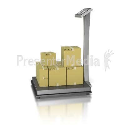 Warehouse Scale Bulk Shipment Presentation clipart