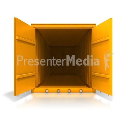 Cargo Container Front Open Presentation clipart