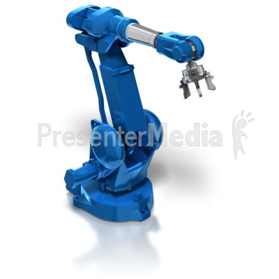 Industrial Robot Arm Presentation clipart