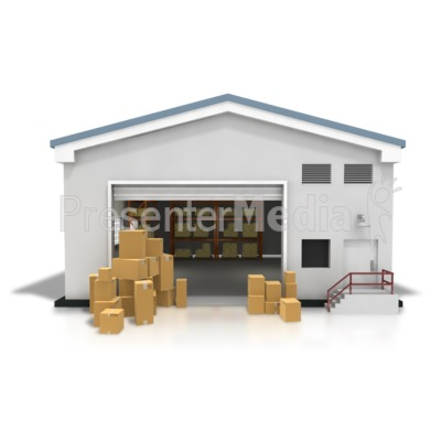 Warehouse Boxes Stacked Presentation clipart