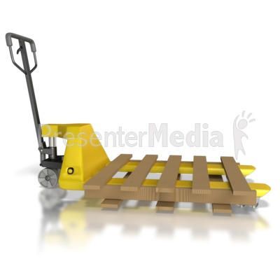 Pallet Mover With Pallet Presentation clipart