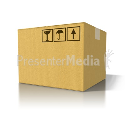 Single Cardboard Box Presentation clipart