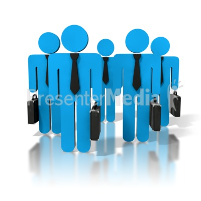 Group Of Business People Presentation clipart