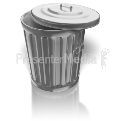 Shiny Metal Garbage Can Presentation clipart