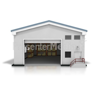 Open Warehouse Presentation clipart
