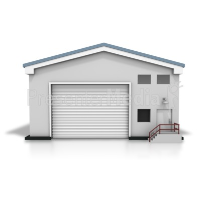 Closed Warehouse Presentation clipart