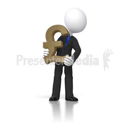 Boss Holding Pound Presentation clipart