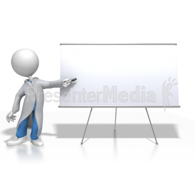 Doctor or Nurse Presenting Blank Board Presentation clipart