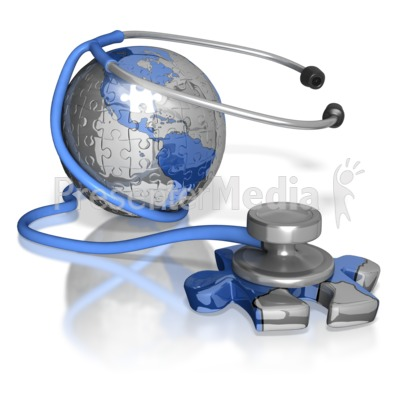Stethoscope Puzzle Piece Earth America Presentation clipart
