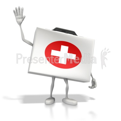 Happy Medical Kit Presentation clipart