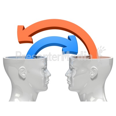 Minds Sharing Ideas Presentation clipart
