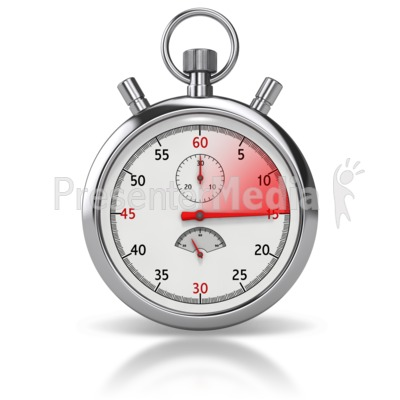 Stop Watch Fifteen Seconds Presentation clipart