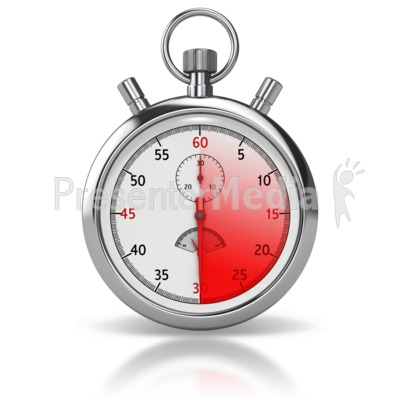 Stop Watch Thirty Seconds Presentation clipart