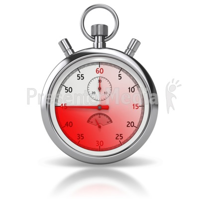 Stop Watch Forty five Seconds Presentation clipart
