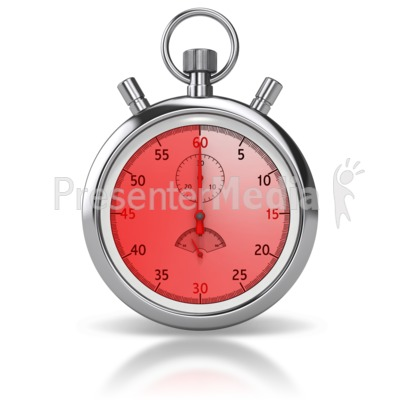 Stop Watch Sixty Seconds Presentation clipart