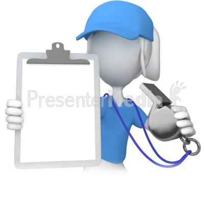 Female Coach With Clipboard Presentation clipart