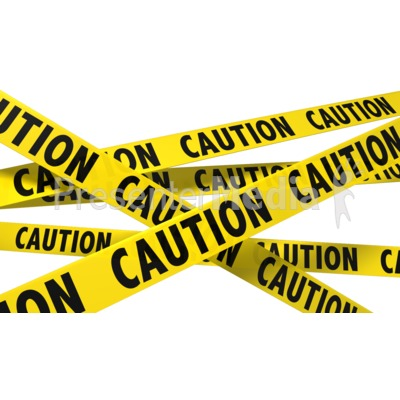 A Wall Of Caution Tape Presentation clipart