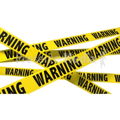 A Wall Of Warning Tape Presentation clipart